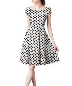 robe vintage a pois blanc