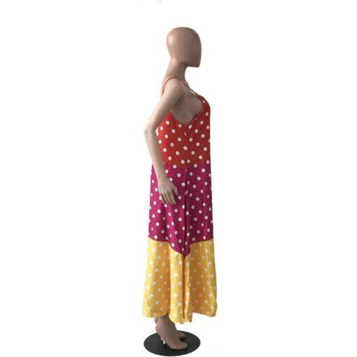 robe longue bretelle spaghetti