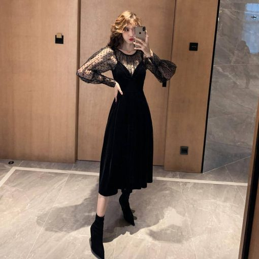 robe automne manche longue