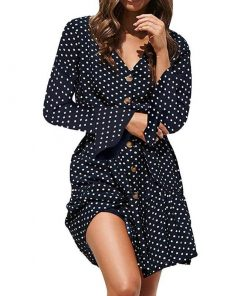 robes longues a pois