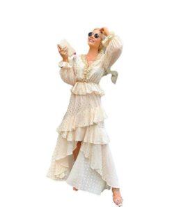robe blanche longue