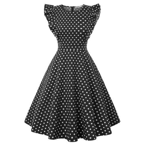 Robes à Pois Courtes##Robe à Pois Courte lolita femmes Polka - coccinelle-paradis