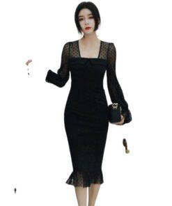 robe noire dentelle grande taille