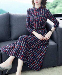 robe bordeaux style vintage