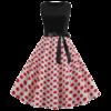 robe annee 50 noir a pois rouge