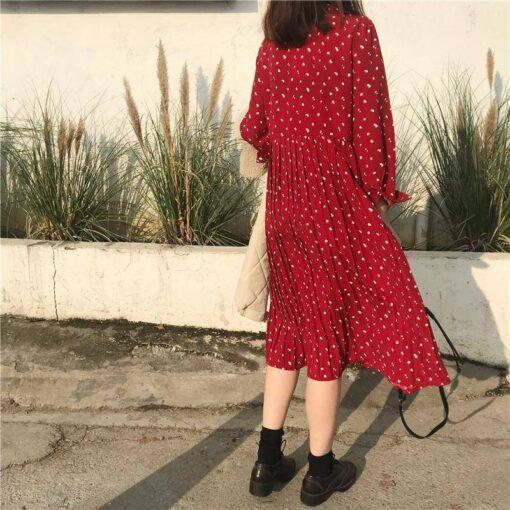 robe mi longue plissee