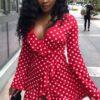 Robes à Pois Courtes##Robe à Pois Courte<br> Africa Swag Sublimer - coccinelle-paradis