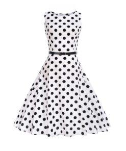 Robe à Pois##Robe à Pois Audrey élégant idéal Escarpins - coccinelle-paradis