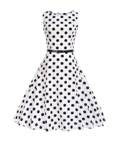 robe retro a pois