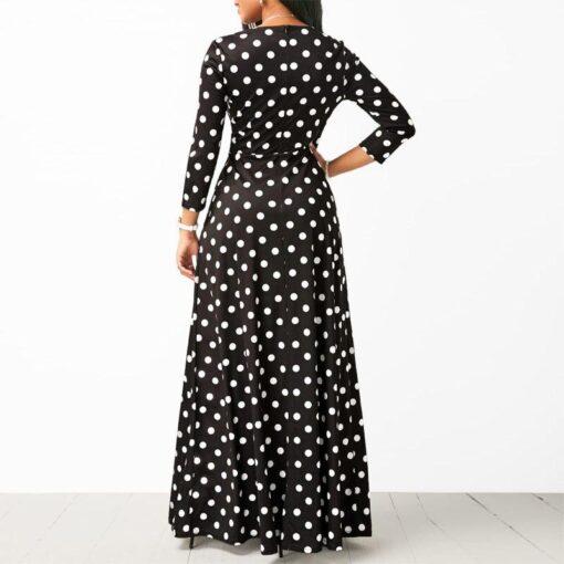 robe longue a pois