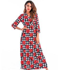 robe longue imprimee boheme