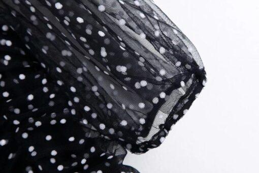 Robe à Pois##Robe à Pois Bouffantes Luciole Epaulettes Froufrou - coccinelle-paradis