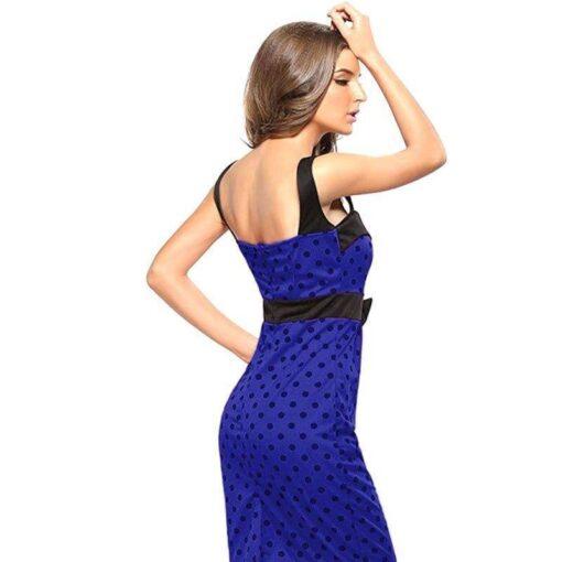 robe bleu electrique moulante