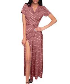 Robe à Pois##Robe à Pois<br> manches vestido plage col en V - coccinelle-paradis