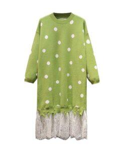 robe pull dentelle