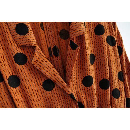 robe a petit pois marron zalanda