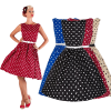 robe a pois annee 50 pin up
