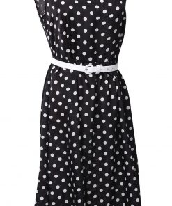 pin up rockabilly robe à pois noire
