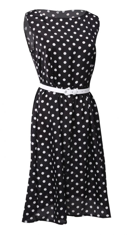 pin up rockabilly robe à pois noire