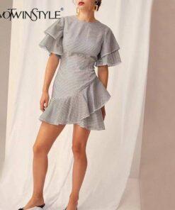patron robe asymetrique femme