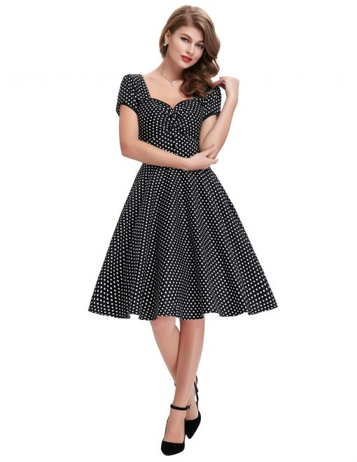 robe a pois pin up