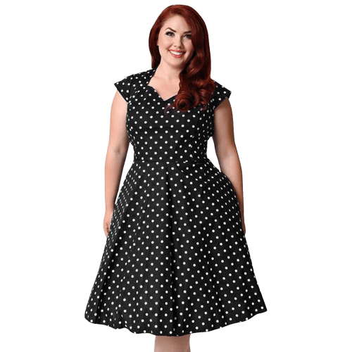 robe a pois courte taille large 3xl