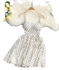 robe a pois courte fluide fee maraboutee