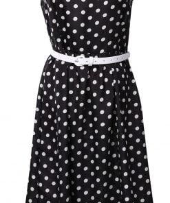 robe à pois pin up noire