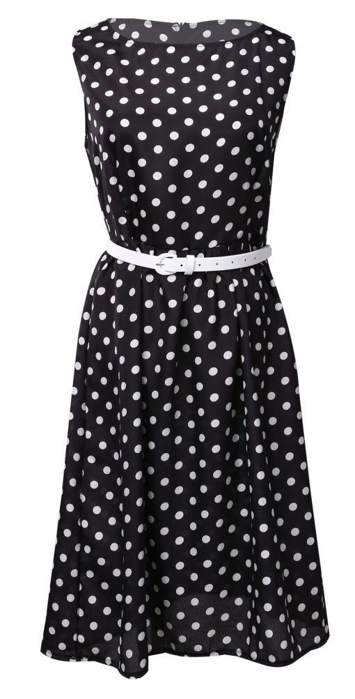 robe à pois pin up noire