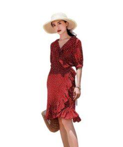 robe bordeaux courte