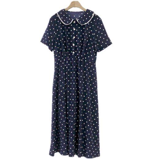 Robe à Pois#robe à pois année 50 bleue a pois blanc#Robe à Pois Année 50 Bleue a Pois Blanc - coccinelle-paradis