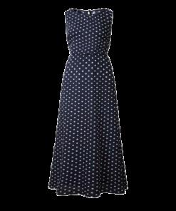 robe longue bleu demoiselle dhonneur a pois