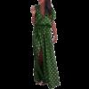 robe longue a pois fentee style