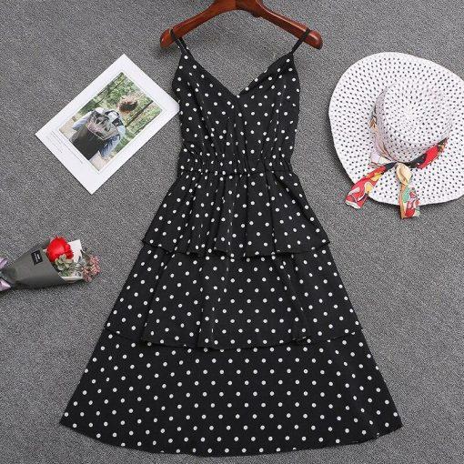 petite robe noire a pois blanc
