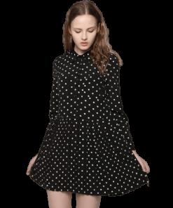 petite robe noir vetement a pois courte