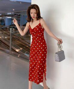 Robe à Pois#robe à pois année 60#Robe à Pois<br> Année 60 - coccinelle-paradis