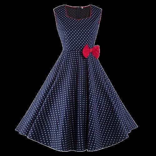 robe soiree avec noeud a pois annee 50