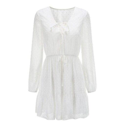 une robe longue blanche