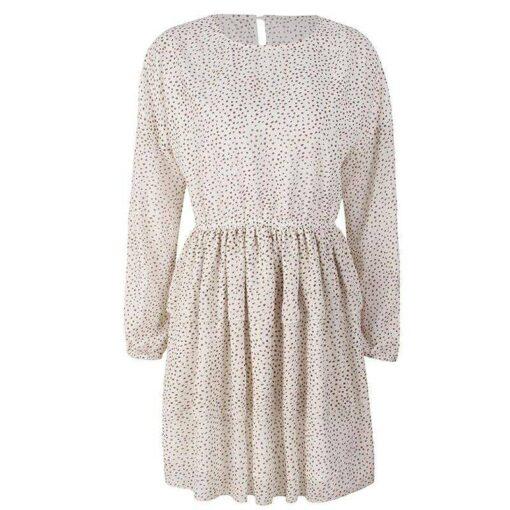 robe longue blanche a pois