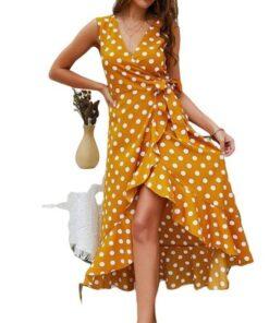 robe asymetrique jaune