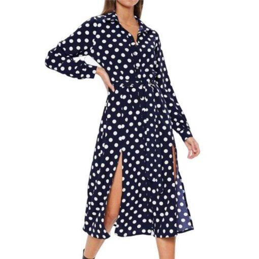 robe longue bouton