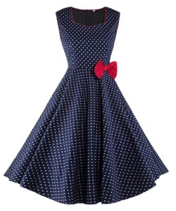 robe rockabilly retro pin up a pois annee 50