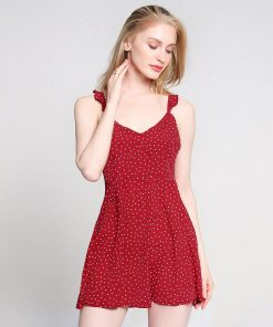 robe a pois rouge urban outfitters