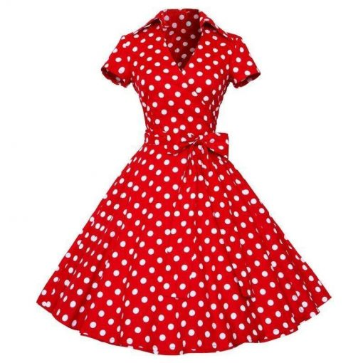 robe ete rouge a pois