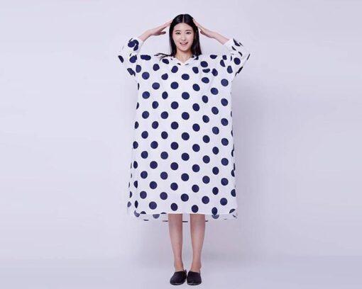 robe asymetrique en velours