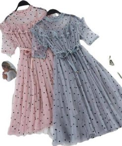 robe tulle brode a pois