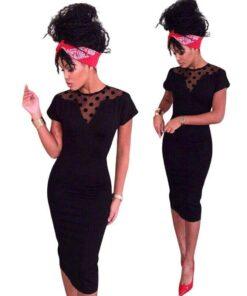 robe noir courte dentelle