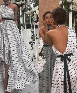 robe asymetrique une epaule