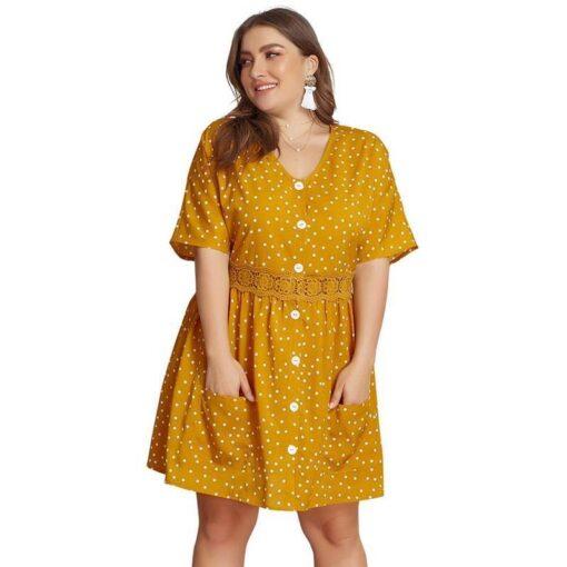 robe jaune en dentelle