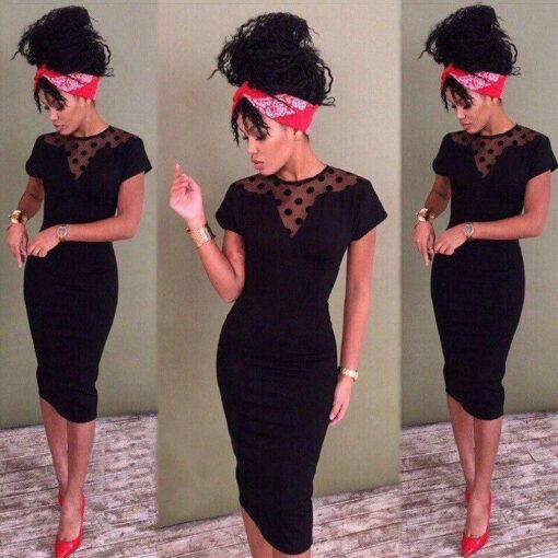 robe courte paillette noir
